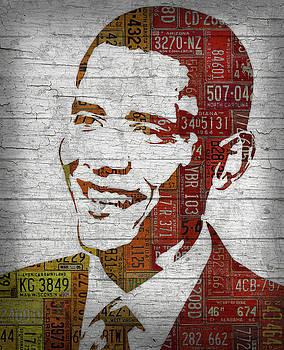 President Barack Obama Portrait United States License Plates by Design Turnpike