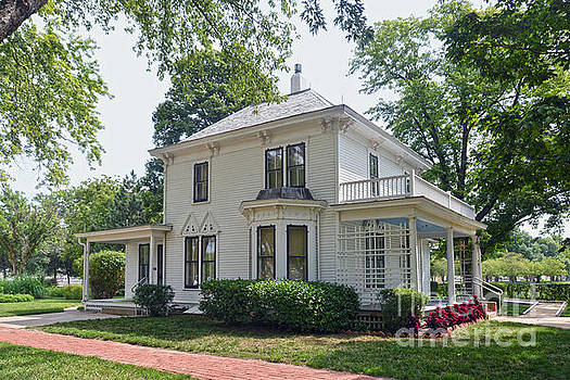 President Eisenhower Boyhood Home, Abilene, Kansas by Catherine Sherman