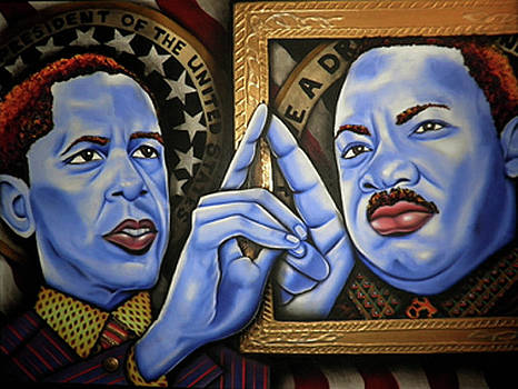 President Obama and Martin Luther King  by Nannette Harris