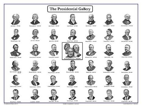 Presidential Gallery Poster by Charles Vogan