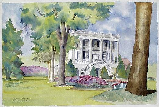 President's Mansion during azalea season by Jim Stovall
