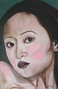 Pretty Asian Lady by Garnett Thompkins