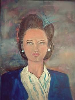 Pretty Blue Eyes by Antoinette Mcfadden