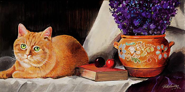 Pretty Cat in Still Life by Bill Dunkley