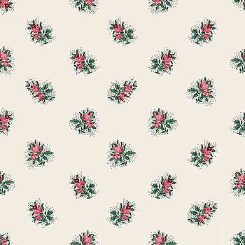 Pretty Pink Roses Girly Vintage Wallpaper Pattern by Tracie Kaska