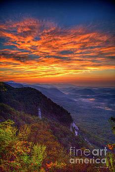 Reid Callaway - Pretty Place Sunrise Overlook Pretty Place Chapel Greenville SC  Great Smoky Mountain Art