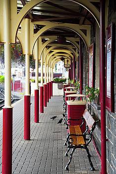 Pretty Train Station by Svetlana Sewell