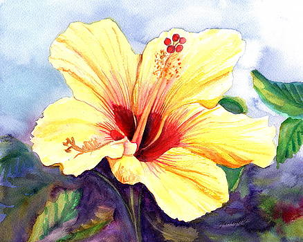 Pretty Yellow Hibiscus by Marionette Taboniar