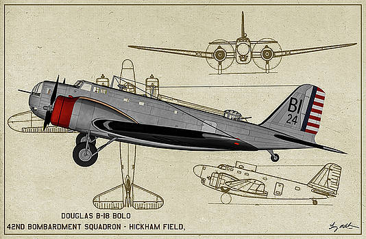 PreWar Douglas B-18 Bolo - Profile by Tommy Anderson
