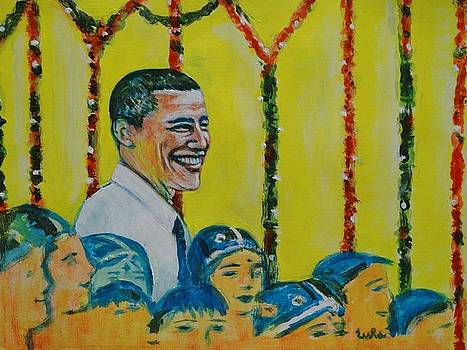 Usha Shantharam - Prez Obama with Children