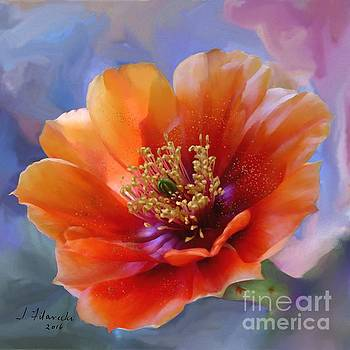Prickly Pear Bloom by Judy Filarecki