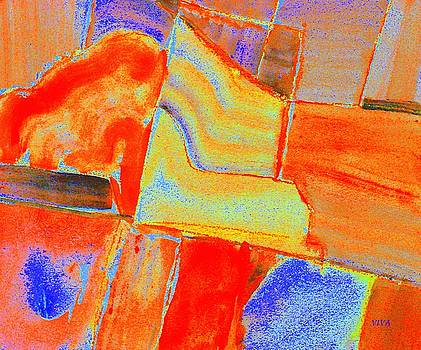 Primary Colours Abstract by VIVA Anderson