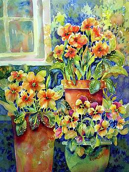 Primroses and Pansies II by Ann Nicholson