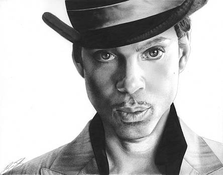 Prince Drawing by Brian Duey