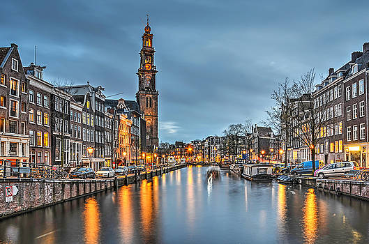 Prince's Canal in Amsterdam  by Frans Blok