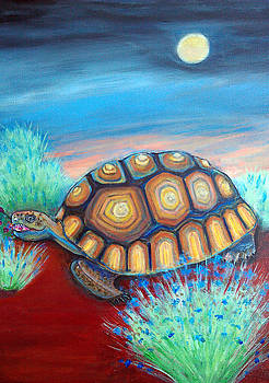 Princess Beatrice and Desert Tortoise by Marjorie Lynne Wagner
