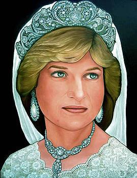 Princess Diana as a bride by Giora Eshkol