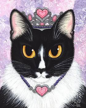 Princess Fiona -Tuxedo Cat by Carrie Hawks