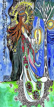 Princess In The Night Garden Original painting by Genevieve Esson