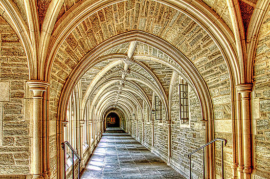 Princeton University Courtyard arches by Geraldine Scull
