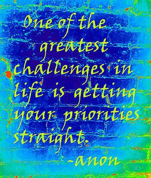 Blue Priorities by Nola Hintzel