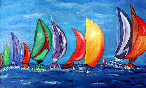 Prismatic Sailin'  by Victoria  Johns