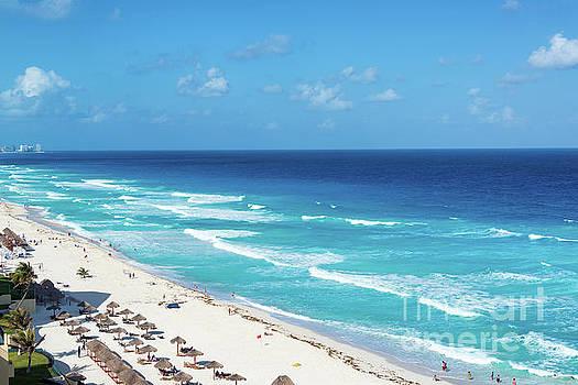 Pristine Beach in Cancun by Jess Kraft