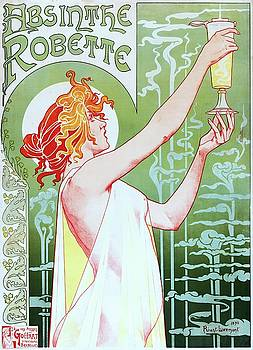 Privat Livemont, Absinthe Robette, advertising poster, 1896 by Vintage Printery