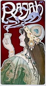 Privat Livemont, Rajah, advertising poster, 1898 by Vintage Printery