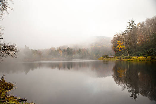 Private Lake in the NC Mountains by Frank White