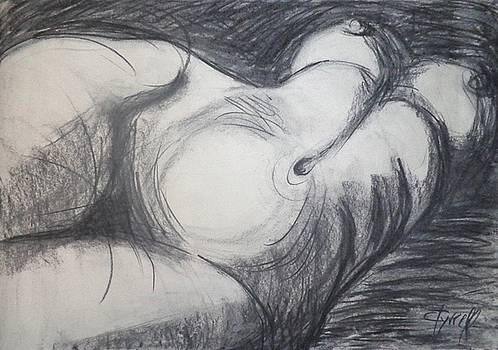 Private Moment - Female Nude  by Carmen Tyrrell