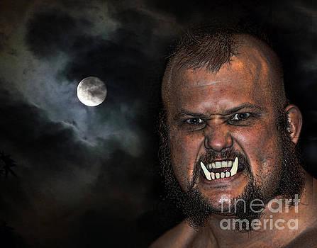 Jim Fitzpatrick - Pro Wrestler War Pig Jody altered version