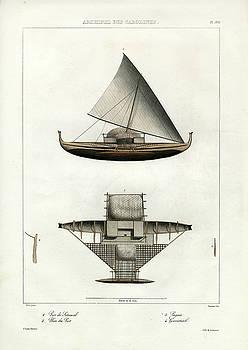 Proa of Satawal Archipel Des Carolines by Dumont d Urville