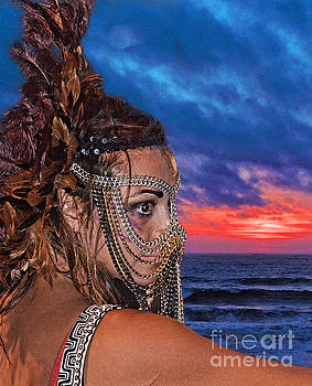 Professional Wrestler Desi Derata at the End of a Day by Jim Fitzpatrick