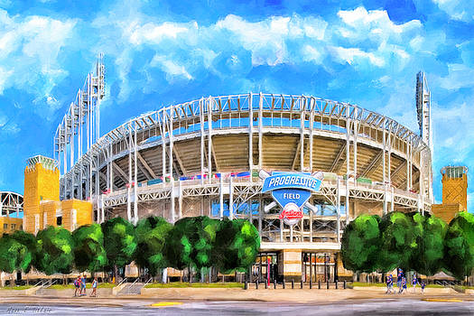 Progressive Field - Cleveland Baseball by Mark Tisdale