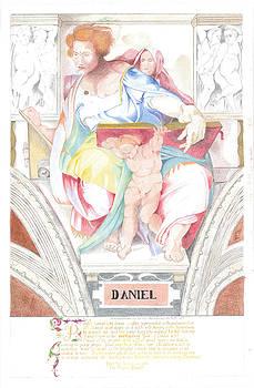 Prophet Daniel Sistine Chapel Michelangelo by Bernardo Capicotto