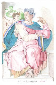 Prophet Isaiah Sistine Chapel Michelangelo by Bernardo Capicotto