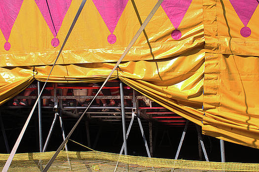 Propped Up Circus Tent with Feet of Spectators by Natalie Schorr