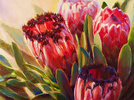 Protea - Tropical Flowers from Hawaii by Karen Whitworth