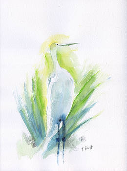 Proud Egret by Frank Bright