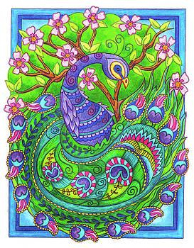 Proud Peacock by Jennifer Allison