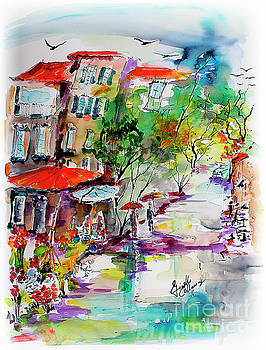 Ginette Callaway - Provence Flower Market Summer Rain