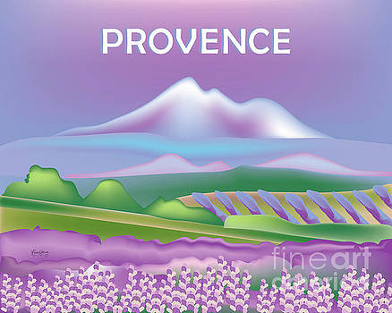 Provence, France Horizontal Scene by Karen Young
