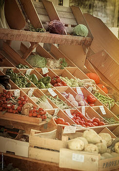 Provence Vegetable Market by Debbie Karnes