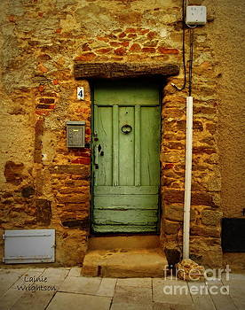 Provence Green Door 4 by Lainie Wrightson