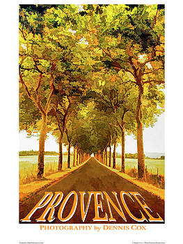 Dennis Cox Photo Explorer - Provence Travel Poster