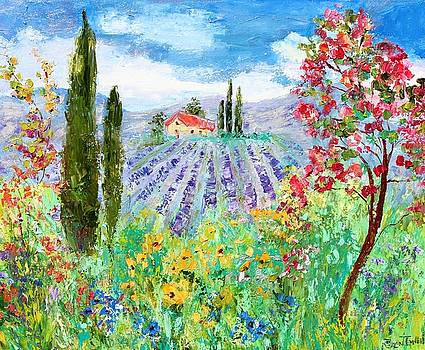 Provence Wildflowers and Lavender by Karen Tarlton
