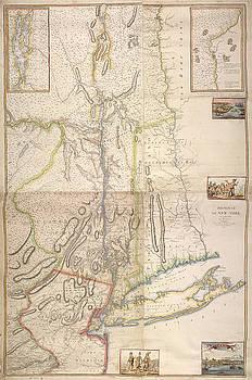 Province de New York  en 4 feuilles by Paul Fearn