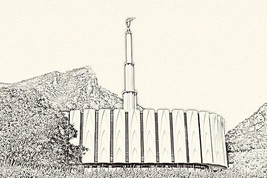 Provo Temple Sketch by Misty Alger