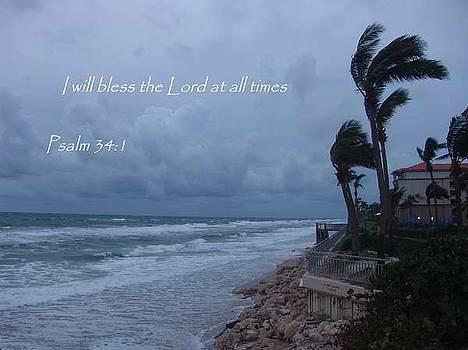 Psalm 34 vs 1 by Celeste Nagy